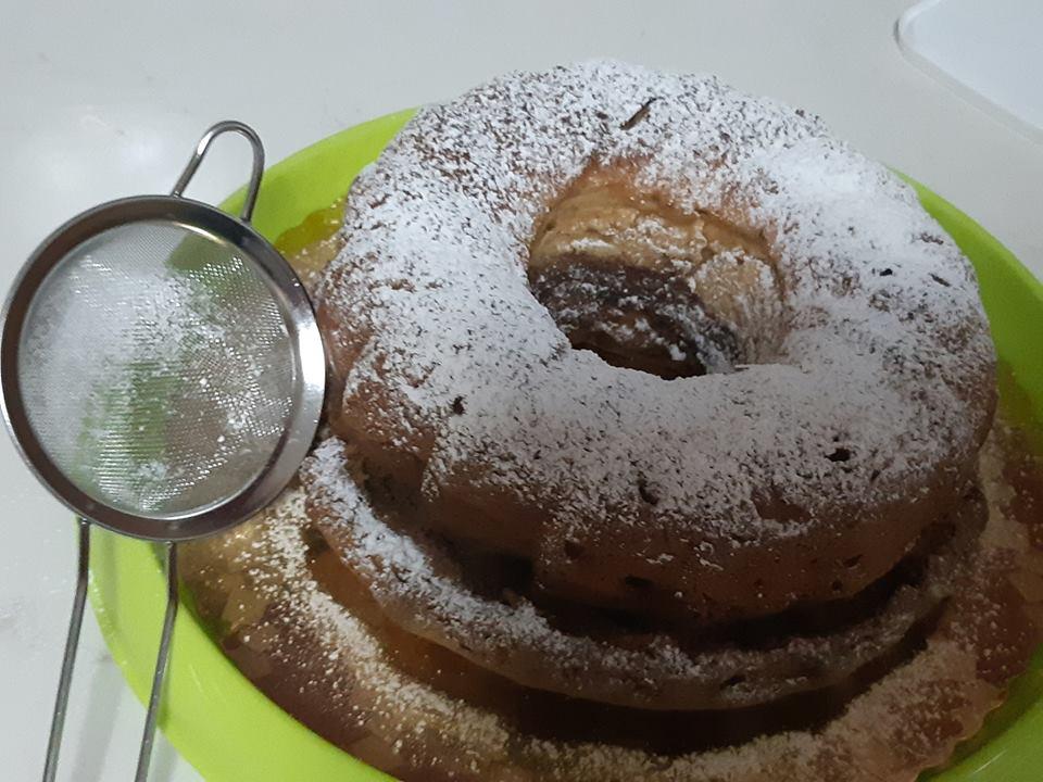 עוגת שוקו וניל פצפוצי שוקולד